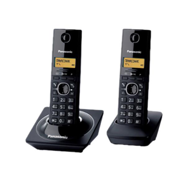 Telefono Inalambrico Panasonic Kx-Tg1712Agb - 1.9 Ghz, Negro, Doble Auricular