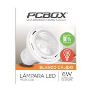 Lampara Led Pc box Mr123 6W Gu10 Blanco Calido