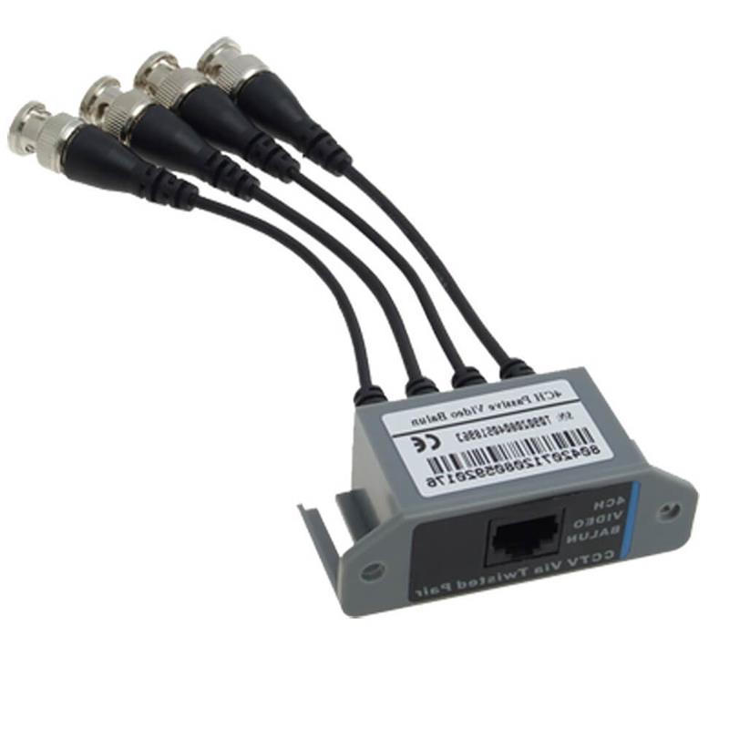 Cctv Conversor/Divisor Pasivo 4 Canales -Pcbox- Balun4Ch- de 1 Cables Utp A 4 Coaxiles