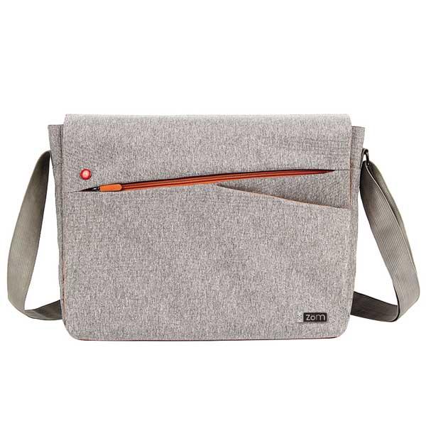 Morral Notebook Zom 15.6 gris/naranja zm-150g