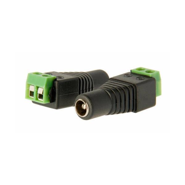 CCTV -DVR-DC - JUEGO DE CONECTORES MACHO Y HEMBRA 2.1mm CON BORNERA A TORNILLO PARA ALIMENTACION