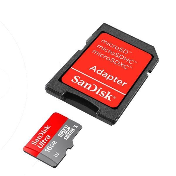 Memoria Sd Micro Sandisk 16Gb - Incluye Adaptador