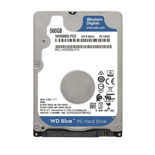 Disco Rigido WESTERN DIGITAL P/NOTEBOOK 500 Gb BLUE Serial ATA (WD5000LPCX)